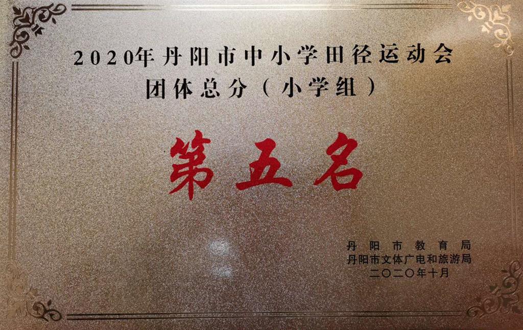 喜报——2020丹阳市中小学田径运动会我校喜获甲级队总分第五名