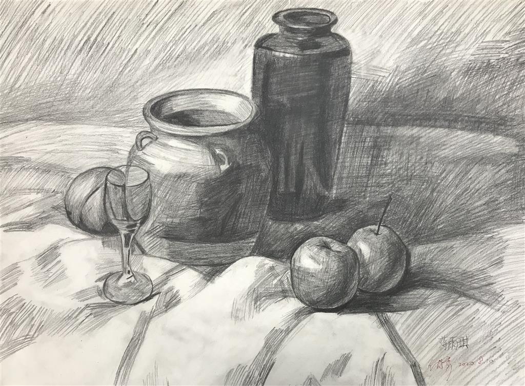 六(4)蒋雨琪同学的素描作品展示